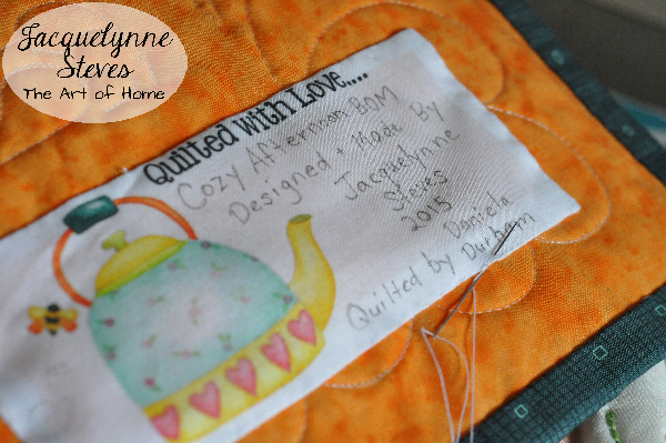 Quilt Label- Jacquelynne Steves