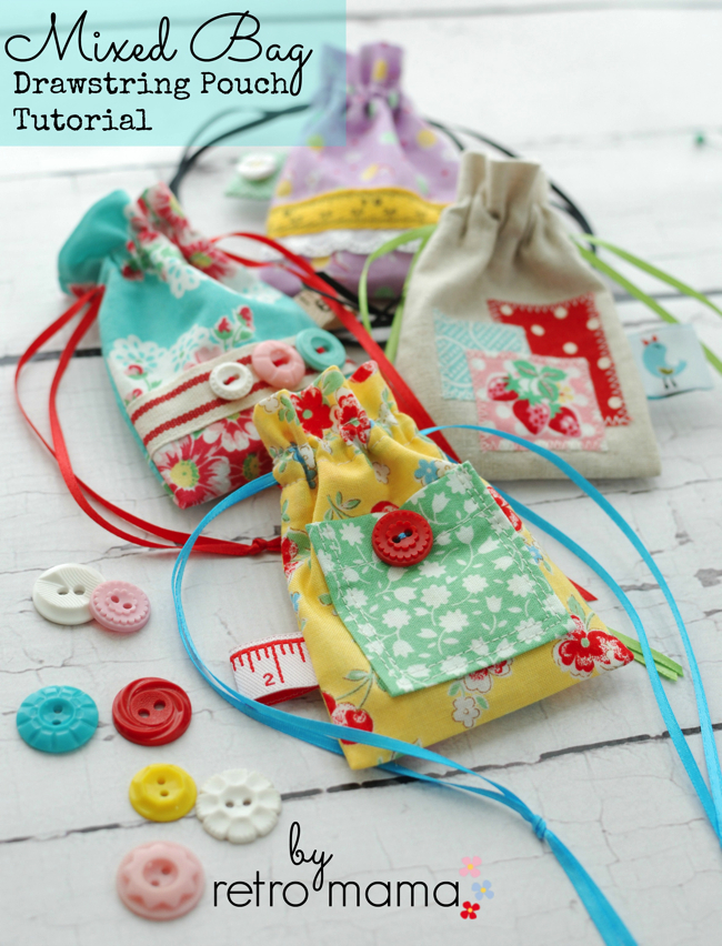 Mixed Bag Drawstring Pouch