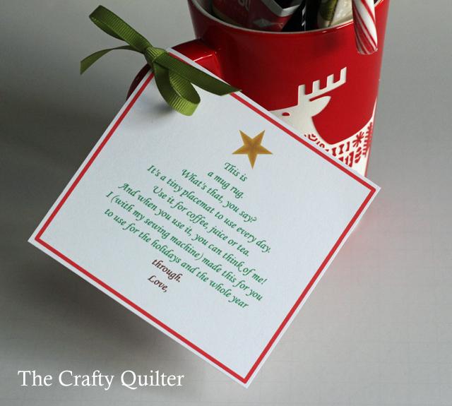 Mug Rug Poem Printable