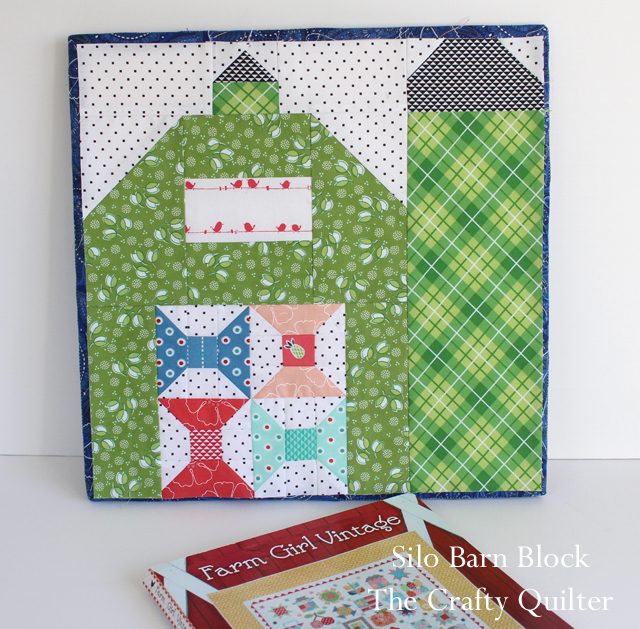 Farm Girl Vintage, Silo Barn Block by Julie Cefalu