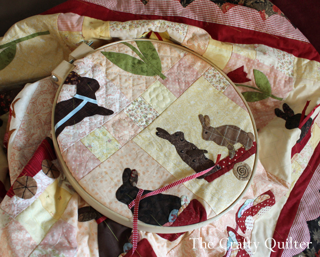Rabbits Prefer Chocolate - hand quilted by Julie Cefalu