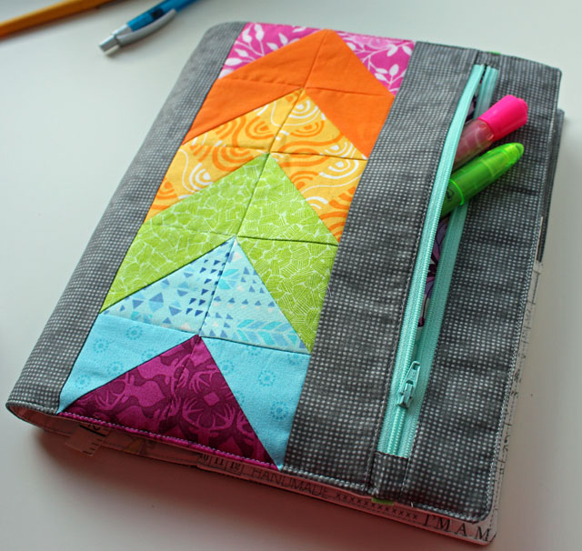 Quilted Book Cover Pattern : My zippy quilter s planner cover the crafty