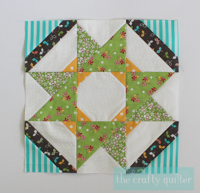 Sugar Block Club Block 4, made by Julie Cefalu