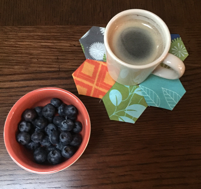 hexies and blueberries