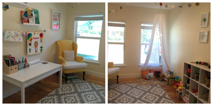 Amelia's playroom designed by Kelly & Steven Cutbirth