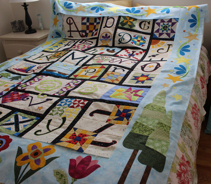 A to Z for Ewe and Me, border section, made by Julie Cefalu