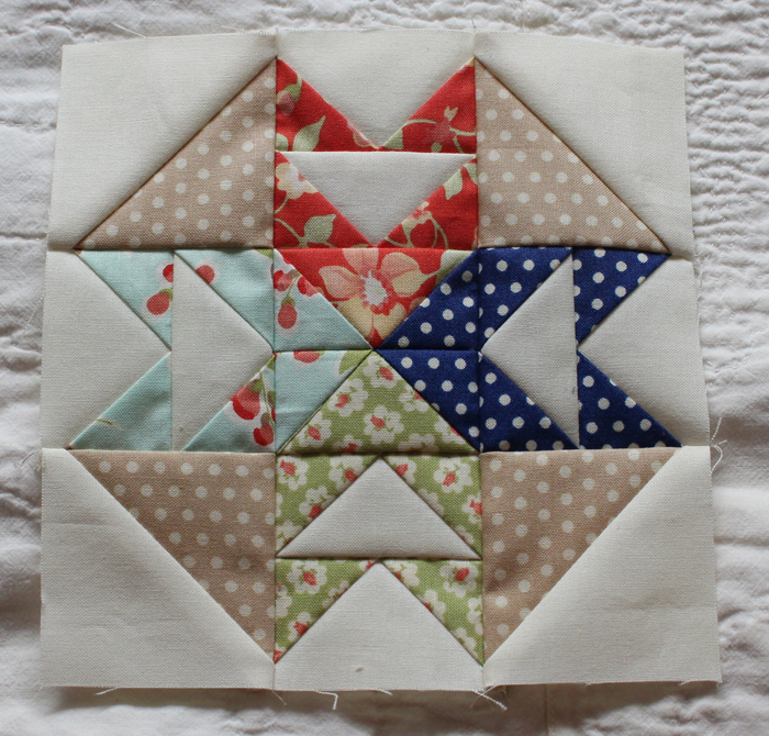 Flights of Fance block from The Splendid Sampler, made by Julie Cefalu