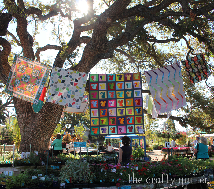 Quilting in The Garden, 2016. Photo by Julie Cefalu