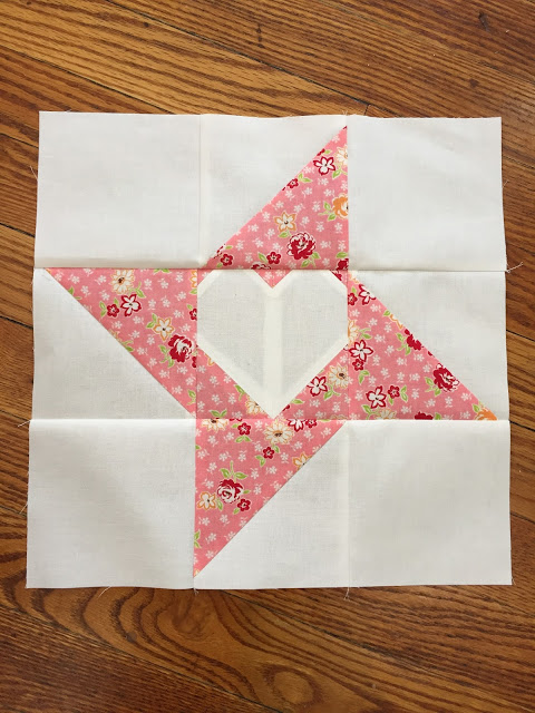 Friendship Love Quilt Block designed by Amy at A Quilting Sheep
