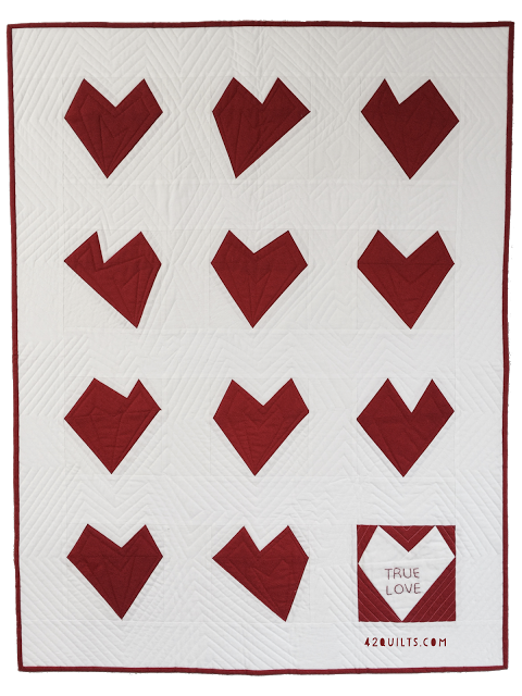 True Love Quilt made by Jennifer at 42 Quilts