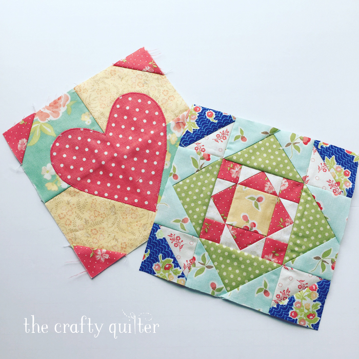 Splendid Sampler blocks 1 and 100 by Julie Cefalu @ The Crafty Quilter