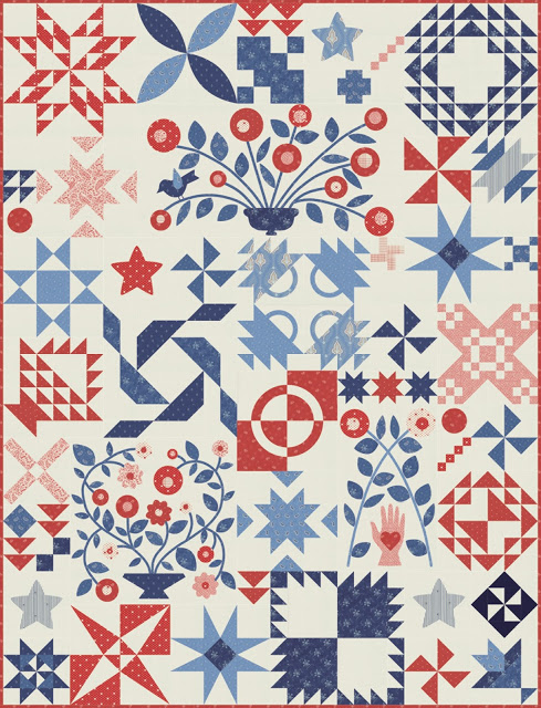 Portage Lake BOM Quilt by Minick & Simpson
