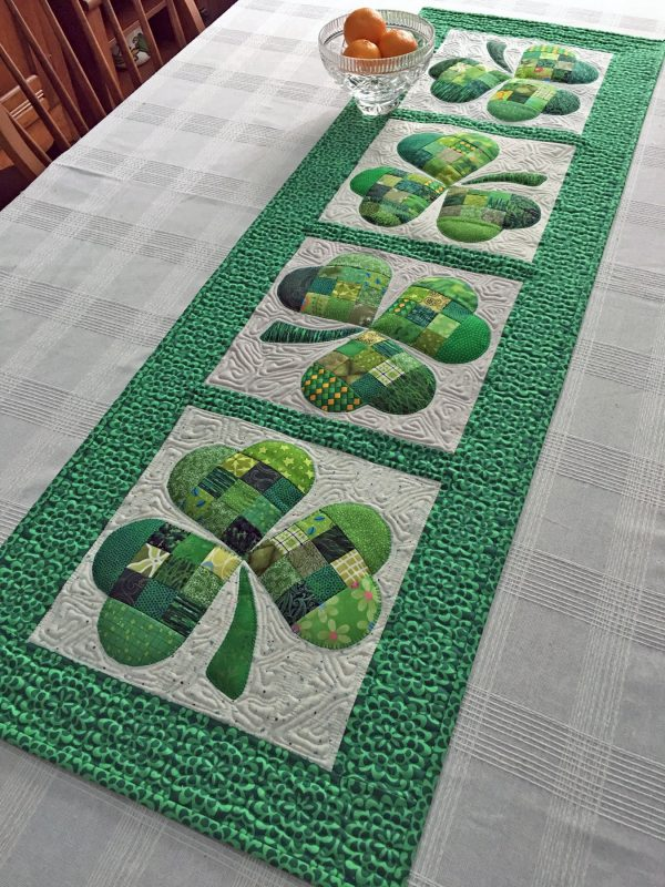 Shamrock Table Runner designed by Joan Ford for Bernina