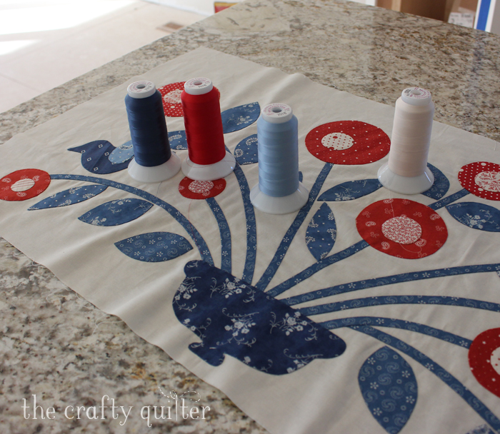 Product review @ The Crafty Quilter: MicroQuilter by Superior Threads; perfect for invisible machine applique