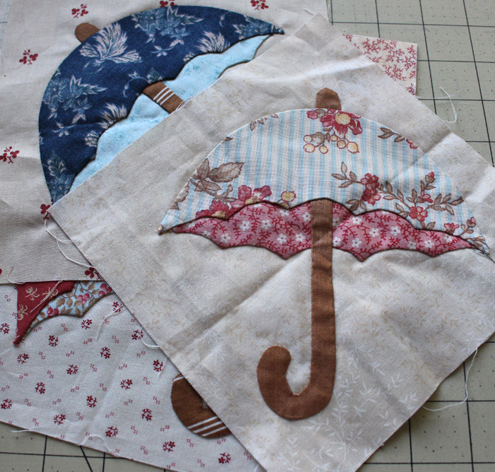 Umbrella applique @ The Crafty Quilter