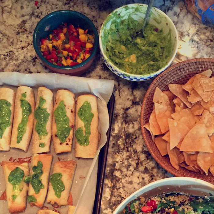 5 Ingredient Chipotle Chicken Taquitos, recipe from Foodie Crush