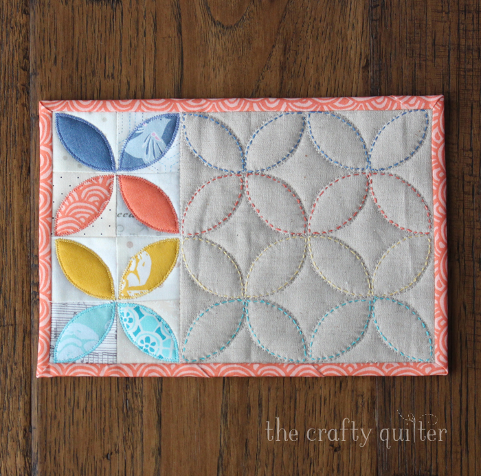 Orange Peel Mug Rug Binding Tips @ The Crafty Quilter