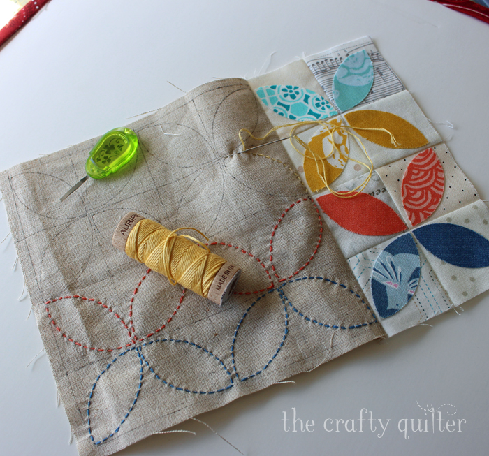 Sneak peak at Scattered Seeds Mug Rug at The Crafty Quilter