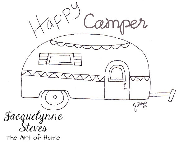 Happy Campber Embroidery pattern from Jacquelynne Steves