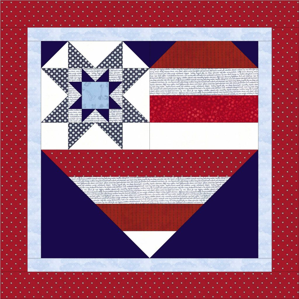 Star Spangled Heart pattern by Julie Cefalu @ The Crafty Quilter; includes several sizes and options including this nesting sawtooth star.