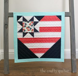 Star Spangled Heart pattern designed by Julie Cefalue of The Crafty Quilter Designs