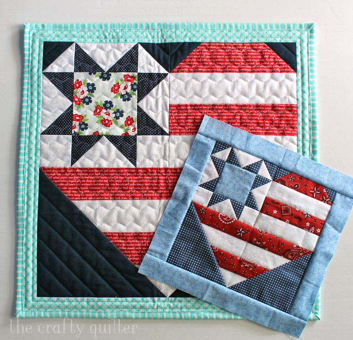 Star Spangled Heart Wall Hanging, pattern by Julie Cefalu @ The Crafty Quilter