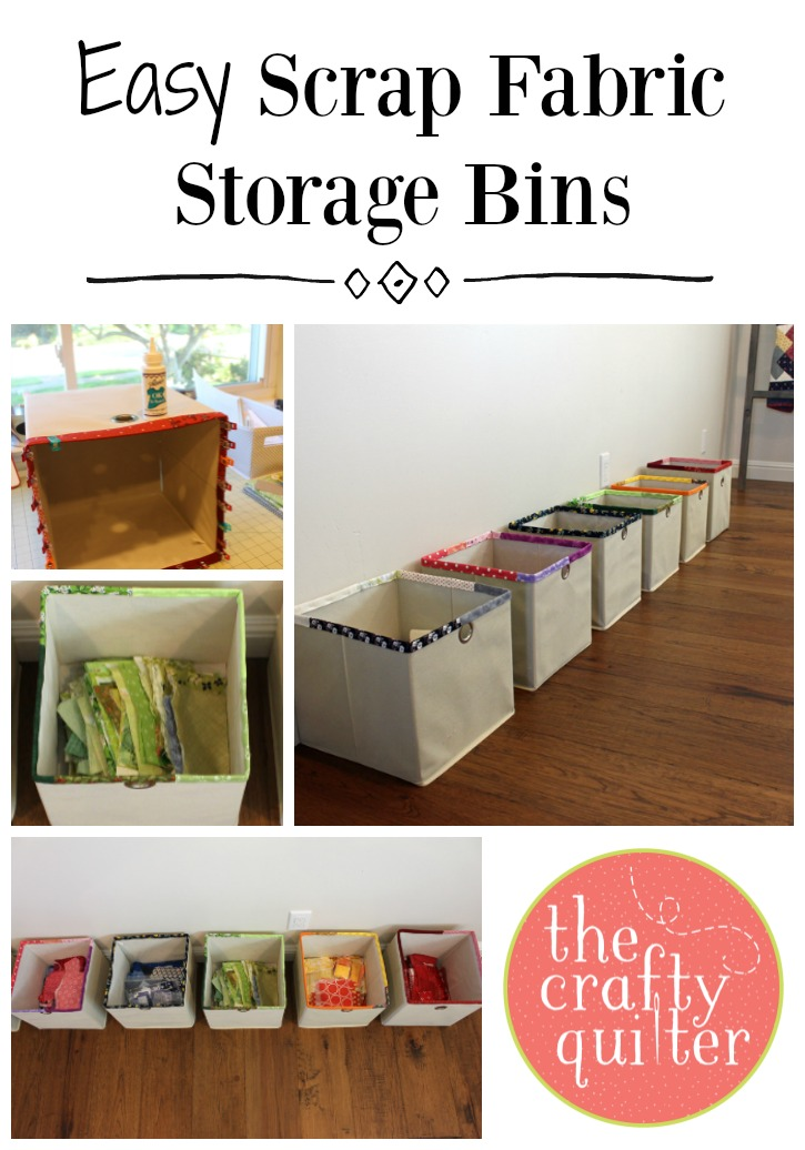Easy Scrap Fabric Storage Bins @ The Crafty Quilter