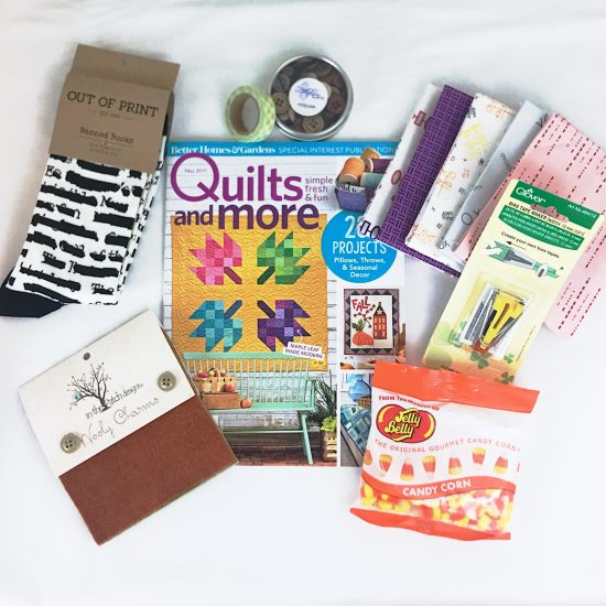 July contents of the Quilter's Candy Box