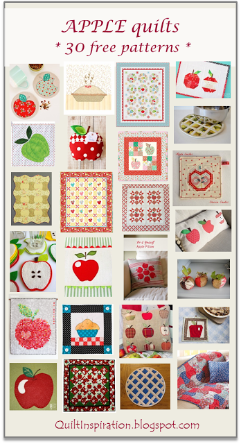 Apple Quilts - A round up of 30 free patterns from Quilt Inspiration
