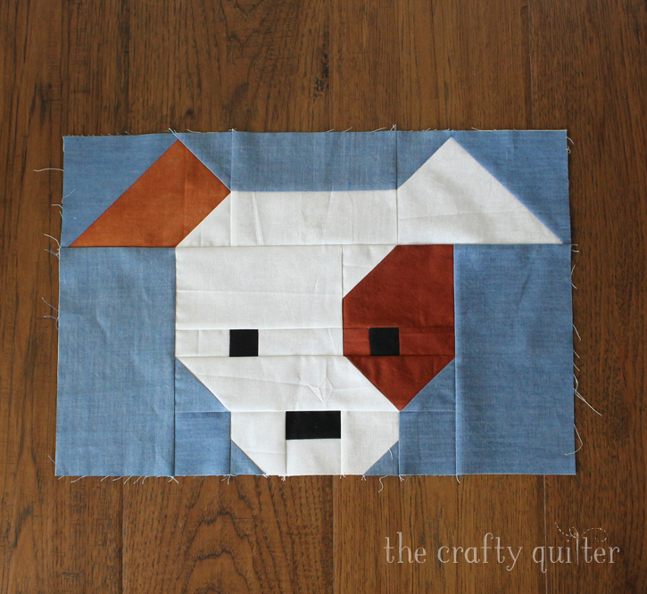 Dog Gone Cute quilt block made by Julie Cefalu; designed by Lorna @ Sew Fresh Quilts
