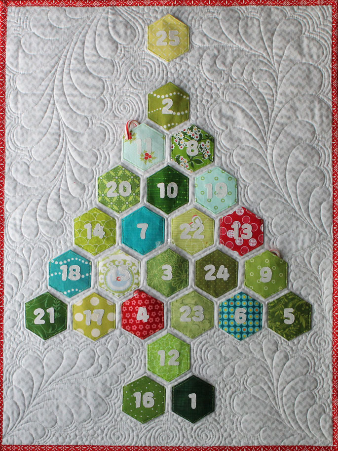 Hexagon Advent Calendar by The Crafty Quilter Designs