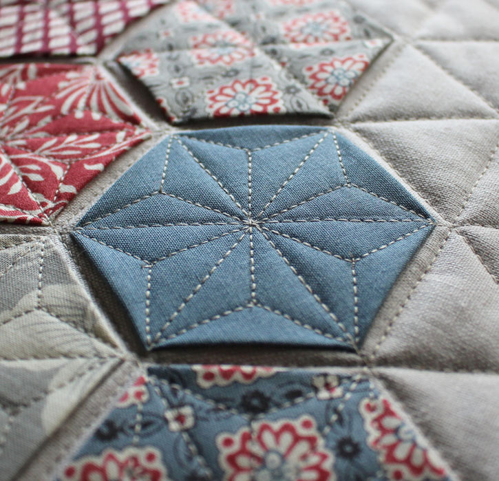 Hexagon Advent Calendar and pillow pattern by Julie Cefalu @ The Crafty Quilter