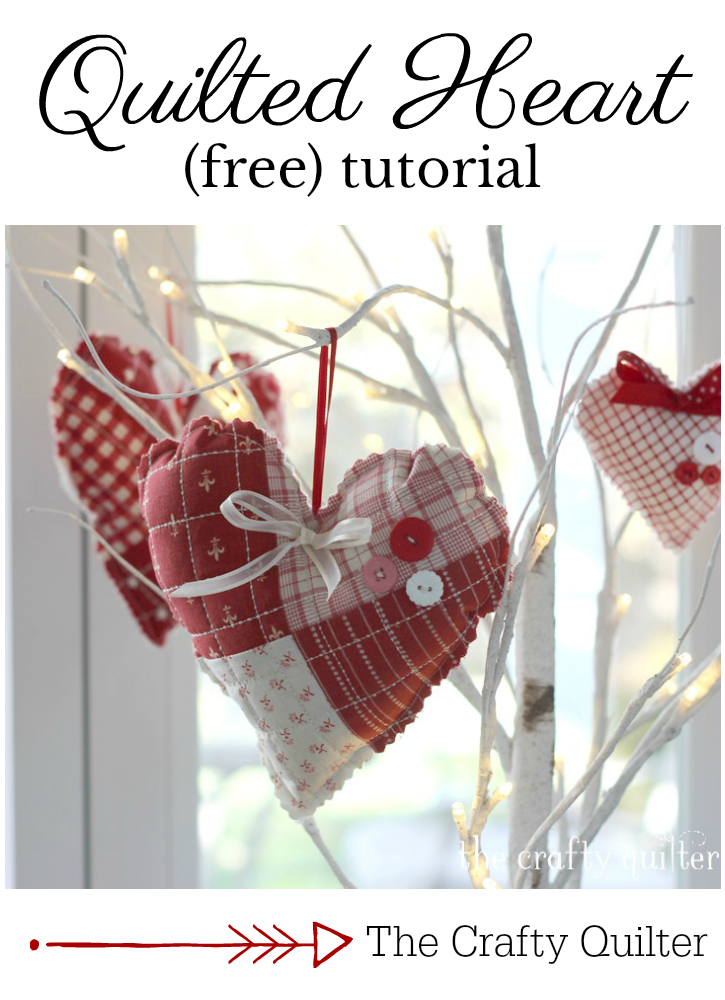 Quilted Heart Tutorial @ The Crafty Quilter