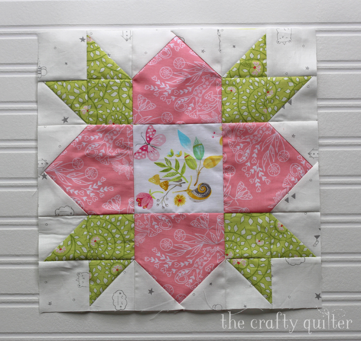 Wildflower Block designed by Inspiring Stitches for the Heartland Heritage Calendar. Made by Julie Cefalu