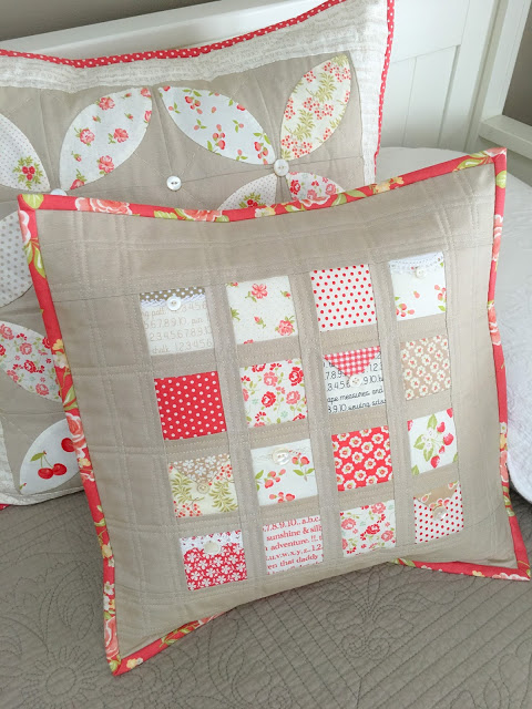 Love Notes Pillow Tutorial by Taunja at Carried Away Quilting