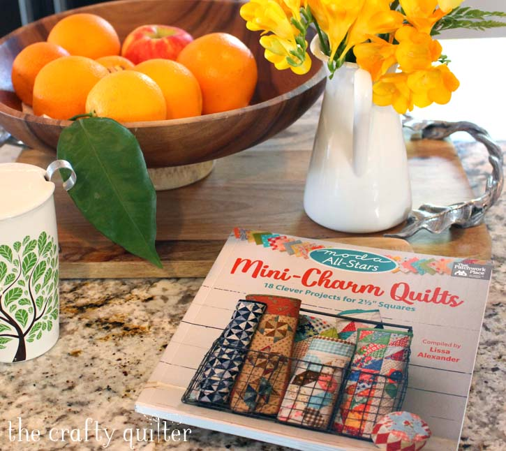 """Mini Charm Quilts book and Mini Charm Pack Ideas to use up those pre-cut 2 1/2"""" squares - from Julie @ The Crafty Quilter"""