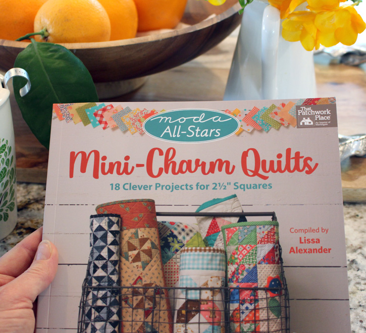 """Mini Charm Quilts and Mini Charm Pack Ideas to use up those pre-cut 2 1/2"""" squares - from Julie @ The Crafty Quilter"""