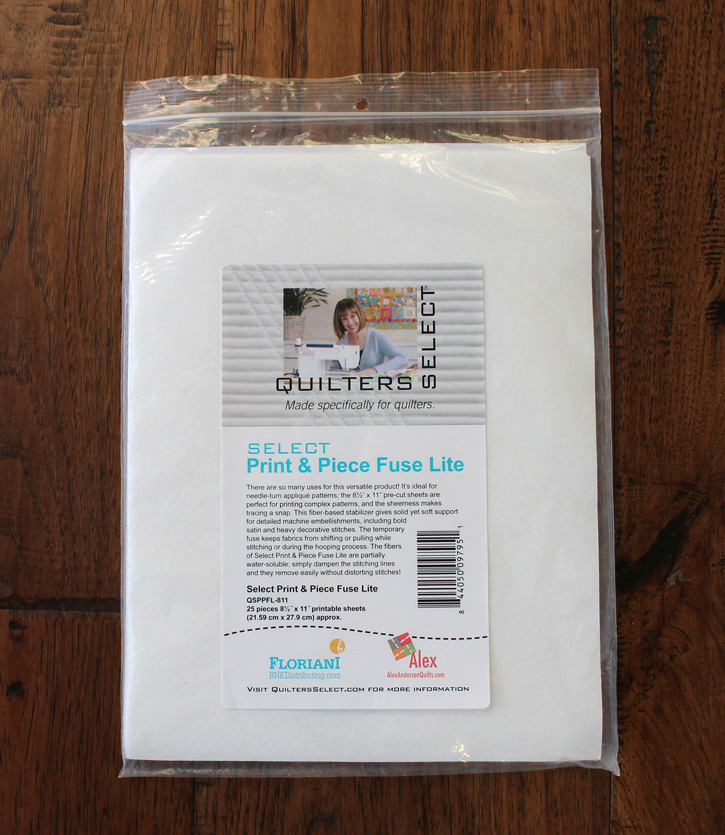 Quilter's Select Print & Piece Fuse Lite by Alex Anderson