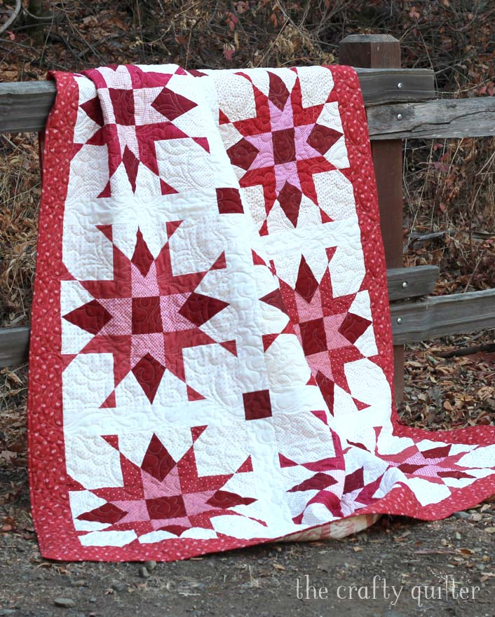 Franklin Star Quilt designed and made by Julie Cefalu, quilted by Carol Dockery