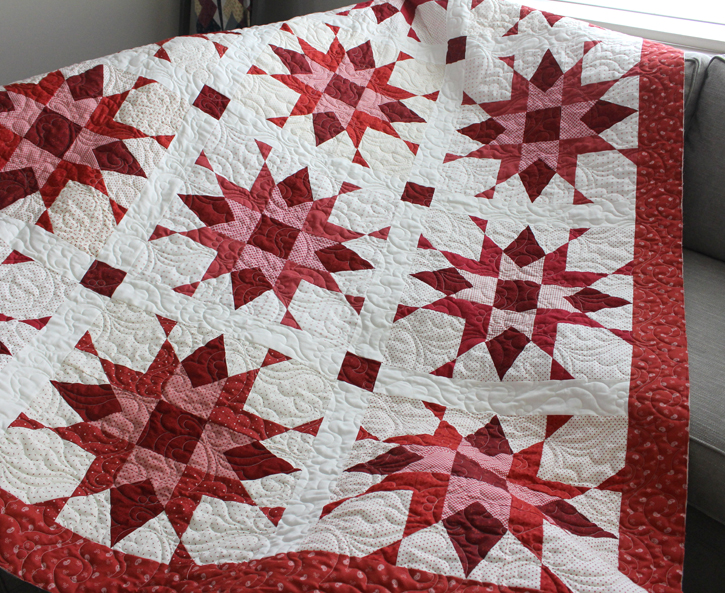 Franklin Star, made by Julie Cefalu and quilted by Carol Dockery