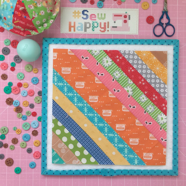 Scrappy String Block Tutorial @ Bee in my Bonnet