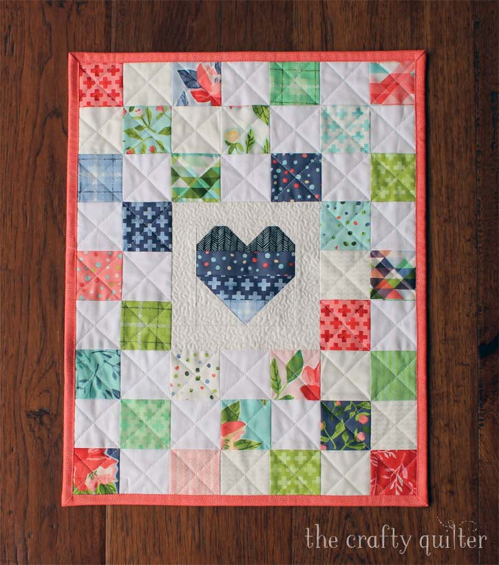Doll quilt made and designed by Julie Cefalu @ The Crafty Quilter