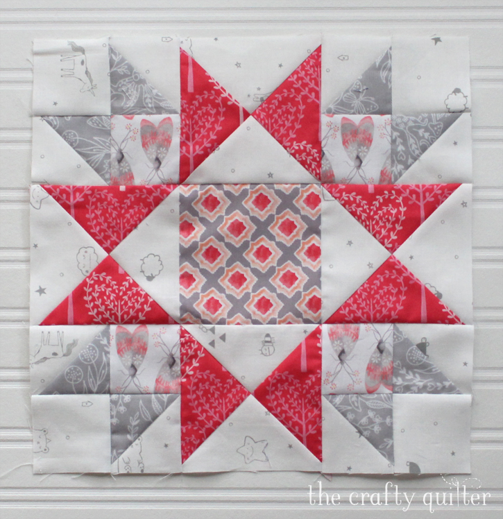 Starlight Block from Heartland Heritage QAL, made by Julie Cefalu