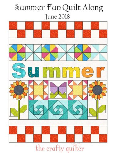 Summer Fun Quilt Along @ The Crafty Quilter starts June 1st, 2018