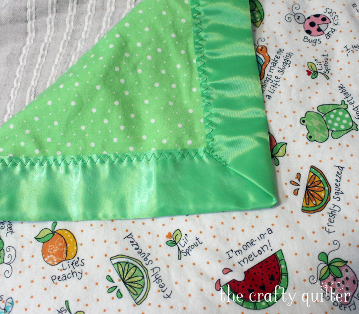 The magic of a soft flannel blankie with satin trim. They are the best gift for a baby!