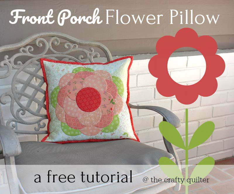 Front porch flower pillow tutorial
