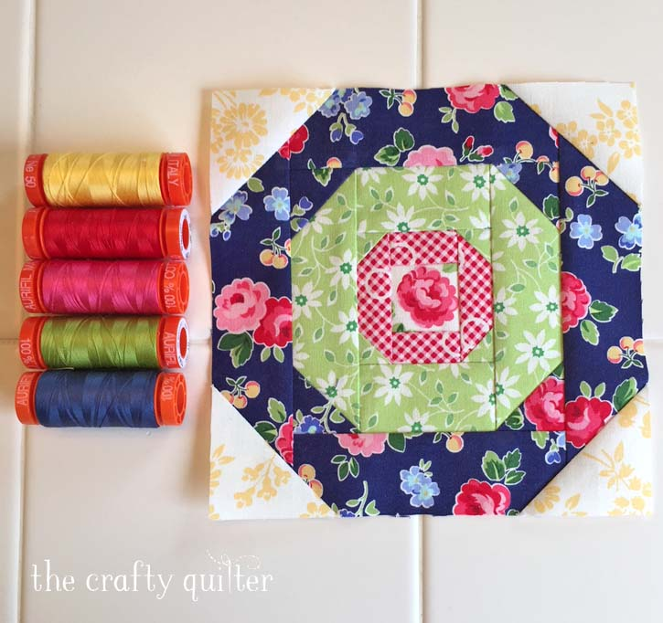 Block 9 of The Patchsmith's Sampler Quilt Along made by Julie Cefalu