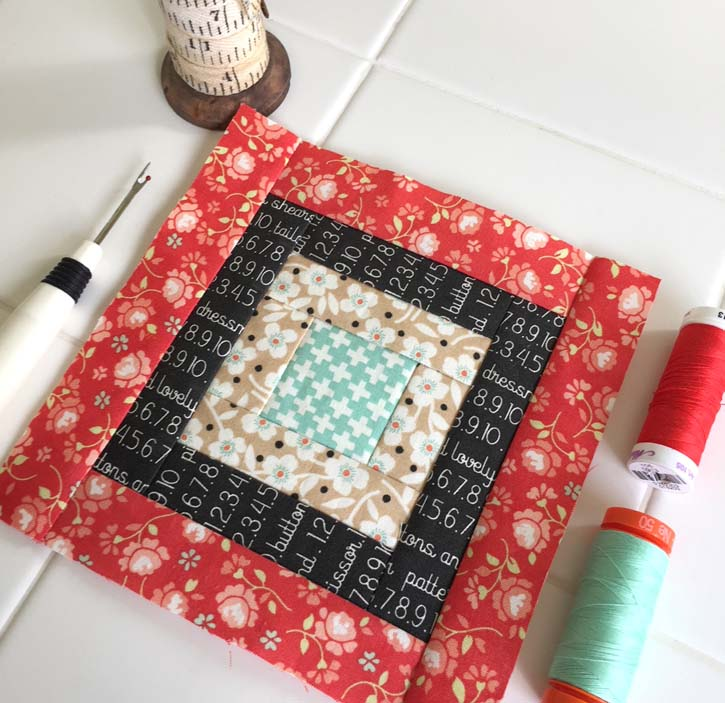 Block 10 of The Patchsmith's Sampler Quilt Along made by Julie Cefalu