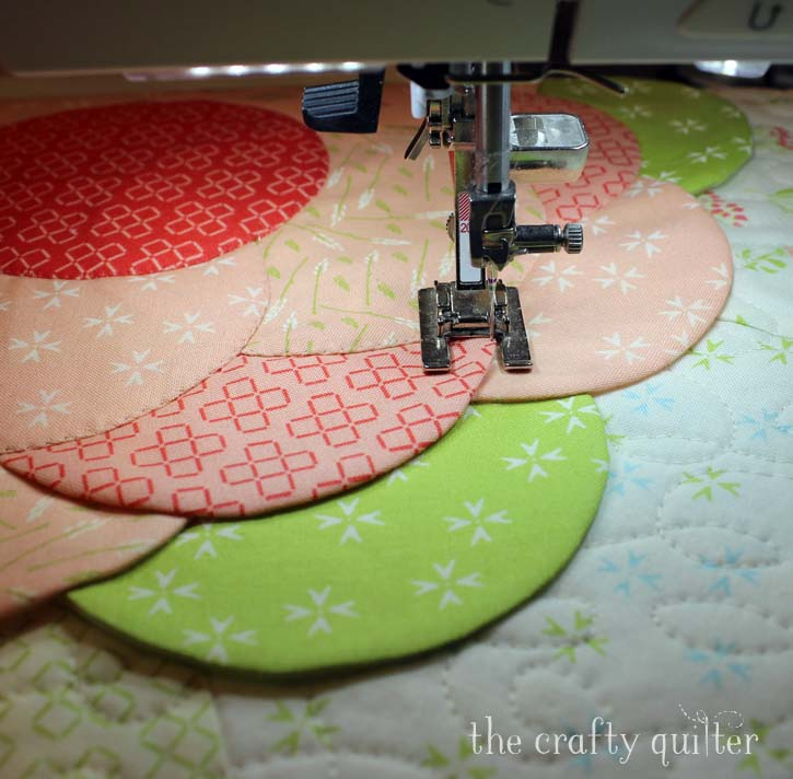 "Front Porch Flower Pillow. A free tutorial by Julie Cefalu @ The Crafty Quilter for a 16"" covered pillow using easy applique techniques."