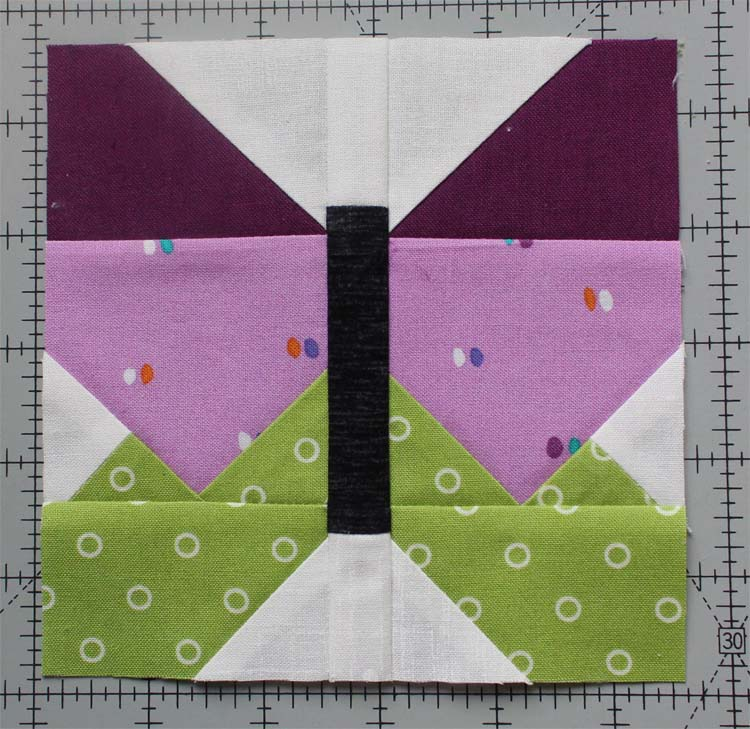 "The Summer Fun Quilt Along @ The Crafty Quilter creates a bright and happy wall hanging that measures 30"" x 32"". Week 4 instructions include the Sunny Star block and the Butterfly block."